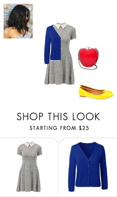 """""""snow white"""" by kcberns ❤ liked on Polyvore featuring Cameo Rose, Lands' End and RED Valentino"""