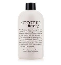 coconut frosting   shampoo, shower gel & bubble bath   philosophy bath & shower gels