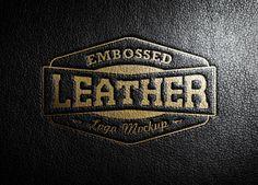 Leather Stamping Logo MockUp, #Free, #Leather, #Logo, #MockUp, #PSD, #Resource, #Stamp