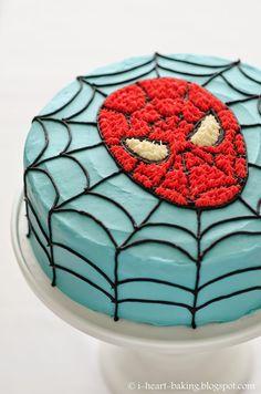 i heart baking!: spiderman birthday cake