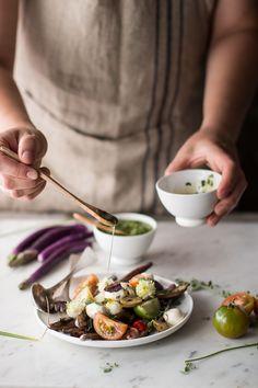 Baby eggplants salad | Insalata di melanzane perlina