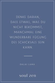 Dalai Lama Zitat | Schicksal Leben | Spirituelle Sprüche und Weisheiten | Entdecke jetzt Soul Zen - deine Marke für Achtsamkeit und Spiritualität