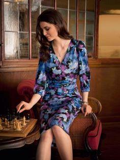 Vintage style sewing pattern - Tucked Dress   burdastyle.co.uk