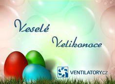 Vážení zákazníci, přejeme vám Veselé Velikonoce a pohodu do jarních dnů. Tým VENTILÁTORY.cz #Velikonoce #jaro #easter #spring #VENTILATORYcz