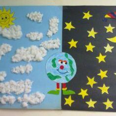 Day And Night Crafts For Preschoolers - Day And Night Craft Idea For Kids 1 Crafts And Worksheets For Day And Night Craft Idea For Kids Kindergarten Art Activities Day And Night Craft Presch. Kindergarten Science, Preschool Lessons, Preschool Crafts, Crafts For Kids, Arts And Crafts, Toddler Activities, Preschool Activities, Opposites Preschool, Classroom Crafts