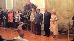 Fernando Montano performs for Prince Charles and the Duchess of Cornwall in Bogota. Breathtaking.