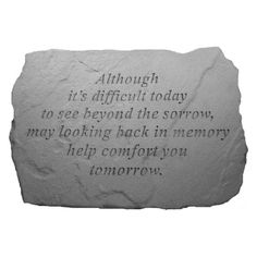 The Kay Berry Although Its Difficult Memorial Garden Stone creates a peaceful spot in which to honor the memory of a loved one. Thanks to its weatherproof. Cemetary Decorations, Memorial Garden Stones, Garden Bed Layout, Small Backyard Landscaping, Landscaping Ideas, I Love My Dad, Cast Stone, Lost Money, Raised Garden Beds