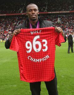 ロンドン オリンピックの優勝タイム9.63秒  Manchester United  Usain Bolt was introduced to the Old Trafford crowd on Saturday…