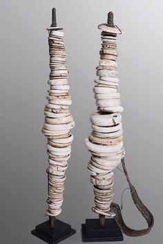 Old Lumi Money Sticks. A pair of sensational large old Lumi money sticks. Papua New Guinea.