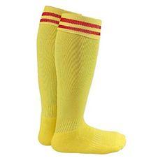 Lian LifeStyle Boy and Girl 2 Pairs Knee High Sports Socks for Baseball/Soccer/Lacrosse S Yellow Black Tube Skirt, Rain Boot Socks, Women's Socks, Womens Wool Socks, Socks For Flats, Black High Boots, Thigh High Socks, Striped Socks, Sport Socks