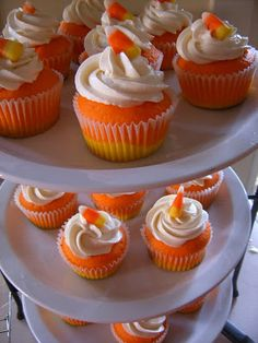 Candy Corn Cupcakes - Our Best Bites