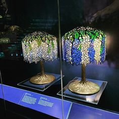 Wisteria table lamps Tiffany Lamps at the New-York Historical Society buff.ly/2UTaPsm #LCT #NYHS #Tiffany #wisteria