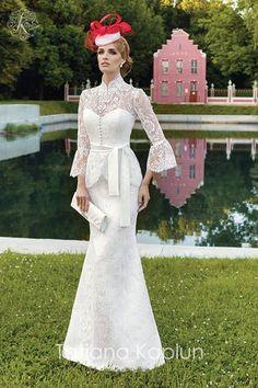 Lady of Quality - Tatiana Kaplun Bridal 2016 Collection - Be Modish Plain Wedding Dress, Modest Wedding Gowns, Wedding Dress Cake, Affordable Wedding Dresses, Dream Wedding Dresses, Bridal Dresses, Bridesmaid Dresses, Gala Dresses, Looks Vintage