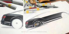 Bentley sketch by Orhan Okay