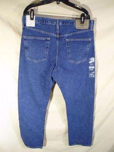 NEW NWT Eddie Bauer Men's Jeans Classic fit Stonewash Medium Blue 5 Pocket-34x32 #EddieBauer #ClassicStraightLeg
