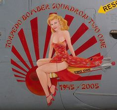 torpedo bomber squadron two one airplane nose art