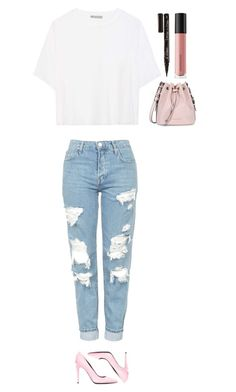 """""""Untitled #385"""" by dutchfashionlover ❤ liked on Polyvore featuring Smith & Cult, Armani Jeans, Vince, Topshop, Alexander Wang and Bare Escentuals"""