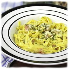 Carbonara with Mrs Miller's noodles