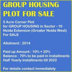 Group Housing Plot for SALE