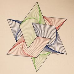 #geometry #symmetry #pattern #triangle #hexagon #Escher #McEscher #handmade #structure #art ...