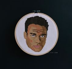 Jean Claude Van Damme Cross Stitch. Portrait. Counted Cross Stitch. Embroidery. Needlepoint. Celebrity. DIY. Crafts.  Available at RichBitchCrossStitch.Etsy.com