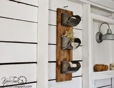 Industrial Barn Wood shelves by Knick Of Time Interiors - oh goodness I adore this piece!