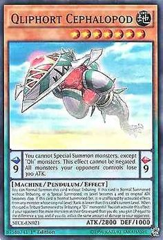 Original KONAMI Yu-Gi-Oh! Trading Card aus Secrets of Eternity  SECE-EN021  Qliphort Cephalopod (Qliphort-Kopffüßer) Seltenheit: Super Rare - 1st Edition  GBA-Code: 87588741 | Jetzt günstig bei eBay kaufen!