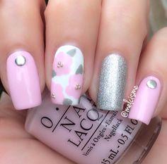 - Nailpolis: Museum of Nail Art Garra, Cute Nail Art, Cute Nails, Hair And Nails, My Nails, Fingernails Painted, Baby Pink Nails, Floral Nail Art, Nail Art Videos