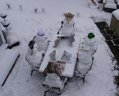 Snowman party - love this for when it snows! Snow Much Fun, I Love Snow, I Love Winter, Winter Fun, Winter Is Coming, Winter Snow, Winter Christmas, Snow Scenes, Winter Scenes