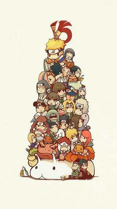 Personnages de Naruto chibi