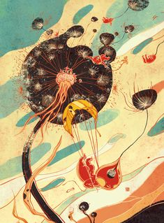 Wonderful Creatures by Victo Ngai, via Behance.  Be Prepared, Plansponsor Magazine