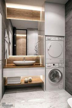 30 modern bathroom design ideas plus tips 62 – diy bathroom ideas Dyi Bathroom Remodel, Bathroom Renovations, Bathroom Makeovers, Tub Remodel, Shower Remodel, Laundry Room Design, Laundry In Bathroom, Master Bathrooms, Bathroom Mirrors