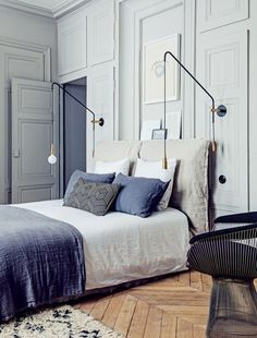 Blue Parisian Apartment | Bedroom
