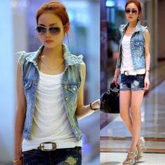 New Women Denim Jacket Slim Coat Cardigan Plus Size Casual High Waist Coat For Women