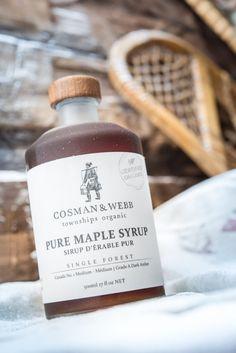 Organic Maple Syrup - 375ml Bottle - Grade A Dark Amber by Cosman & Webb…