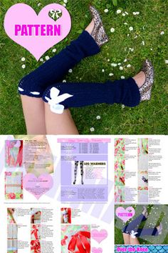 Crochet Leg Warmers Pattern and Tutorial by Mademoiselle Mermaid