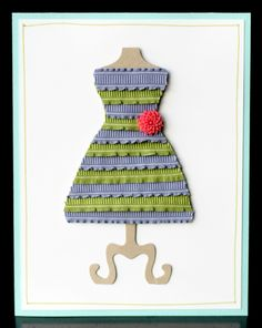"Wish I could find a ""real dress"" like this!  Stampin' Up! Dress Up Framelits are so FUN!!!  Once you start playing, you can't stop!"