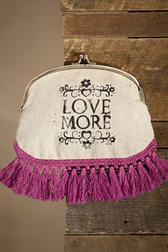 The Cassidy COIN purse - LOVE MORE