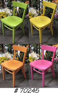 Chair Chair, Wood, Assorted Neon Colorssix In Orangeeight In Greeneight In Yellowfour In Pink Kids Table And Chairs, Kid Table, Dining Chairs, Wood, Furniture, Home Decor, Houses, Decoration Home, Woodwind Instrument