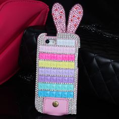 My #Bunny #Bling Bling iPhone 5/5s Case (Rainbow) - Fashion9shop.com