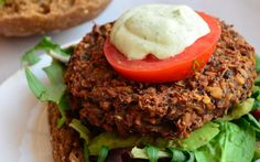 Tempeh Black Bean Burgers With Creamy Dill Sauce [Vegan, Gluten-Free] Smoker Cooking meat smoker electric Tempeh Burger, Lentil Burgers, Vegan Burgers, Vegan Dinner Recipes, Raw Food Recipes, Vegetarian Recipes, Vegan Meals, Vegan Food, Free Recipes