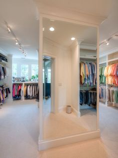 Huge closet! I love the white everywhere and the windows!