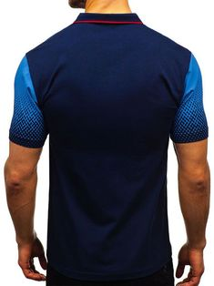 Gradient Tone Shirt Collar T Shirts Polo Shirt Brands, French Street Fashion, Printed Cotton, Casual T Shirts, Collar Shirts, Denim Fashion, Printed Shorts, Sleeves, Mens Tops