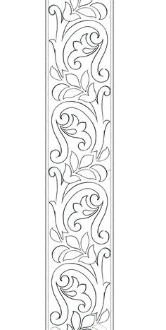 Border Embroidery Designs, Floral Embroidery Patterns, Embroidery Motifs, Beaded Embroidery, Machine Embroidery, Stencil Patterns, Stencil Designs, Paint Designs, Pattern Art