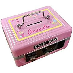 Personalized Birds and Flowers Design Cash Box / Piggy Bank