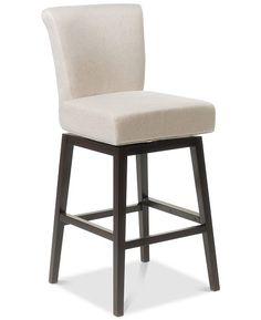 Bergen 27 Inch Dark Brown Leather Swivel Counter Stool Furniture