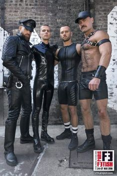 Blast from the past during the chaotic and orgy-esque gay club scenes of the 80s and 90s, where leather and bondage was extremely popular