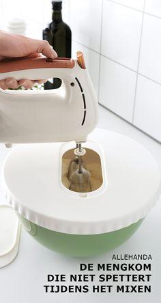 ALLEHANDA de mengkom die niet spettert | #IKEA #IKEAnl  #ElkProductEenGoedVerhaal #opening #deksel #kinderen #koken #spetters #mixen #mixer #beslagkom