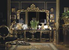 Luxury Home Design Italian Furniture with Black and Gold Decoration Italian Furniture Elegant Home Decor, Luxury Home Decor, Elegant Homes, Luxury Homes, Italian Interior Design, Gold Interior, Luxury Interior Design, Italian Furniture Brands, Classic Furniture
