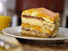 This looked so good ! even for me who hates breakfast food like this ! Pancake Lasagna recipe from Eric Greenspan via Food Network Breakfast Lasagna, Bacon Breakfast, Breakfast Pancakes, Breakfast Recipes, Breakfast Time, Brunch Recipes, Breakfast Ideas, Brunch Ideas, Yummy Recipes